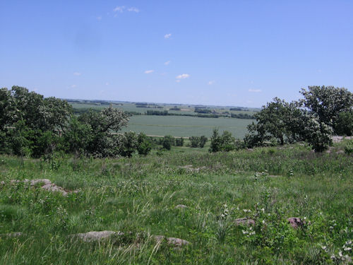 blue mounds top view