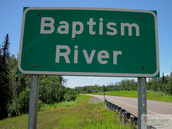 baptism river sign