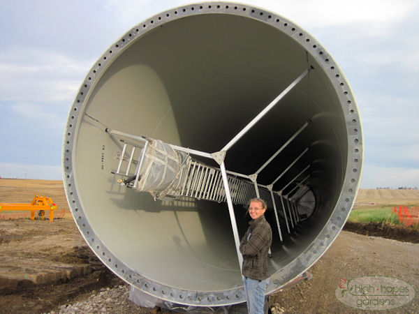 Inside wind turbine tower