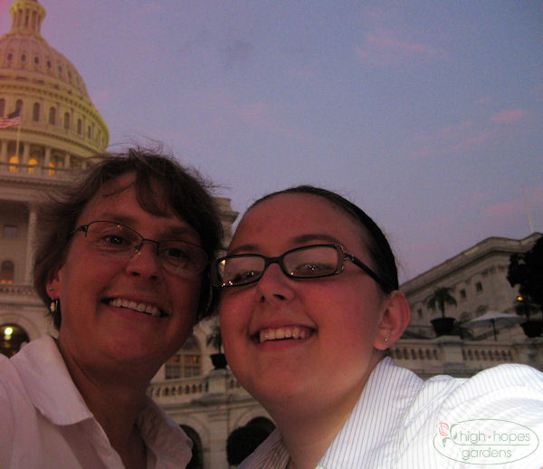 mother and daughter at capitol
