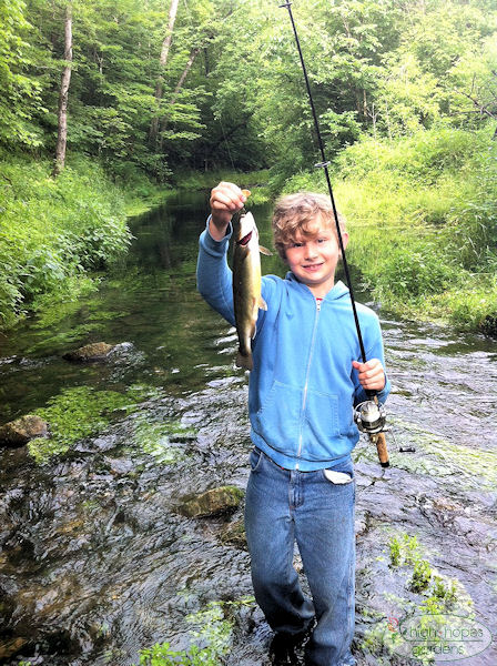 boy with trout