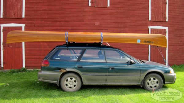cedar strip canoe on subaru outback