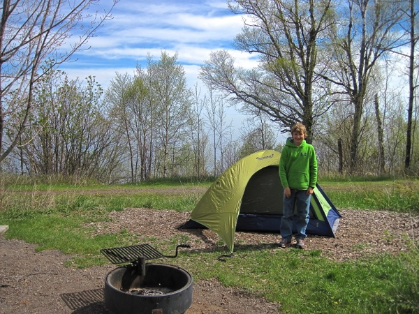 Temperance River Campground, eureka apex 2-person tent