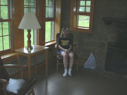 emma in cabin